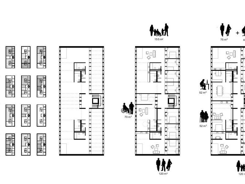 MA.7 Grundriss langer Riegel